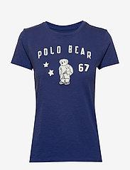 Polo Ralph Lauren - Polo Bear Patch Jersey Tee - logo t-shirts - royal navy - 0