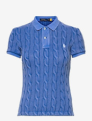 Polo Ralph Lauren - Cable-Knit Polo Shirt - polohemden - keel blue - 0