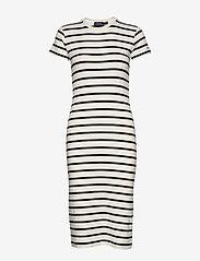 Polo Ralph Lauren - Striped Cotton Dress - midi dresses - nevis/ polo black - 0