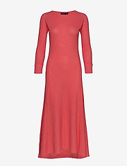 Polo Ralph Lauren - Waffle-Knit Henley Dress - maxi dresses - amalfi red - 0