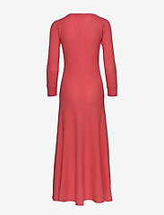 Polo Ralph Lauren - Waffle-Knit Henley Dress - maxi dresses - amalfi red - 1