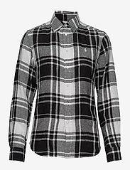 Polo Ralph Lauren - Plaid Linen Button-Down Shirt - long-sleeved shirts - 713 white/black - 0