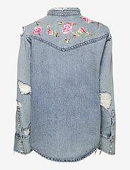 Polo Ralph Lauren - Embroidered Denim Shirt - jeansblouses - medium indigo - 1