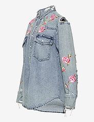 Polo Ralph Lauren - Embroidered Denim Shirt - jeansblouses - medium indigo - 2