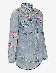 Polo Ralph Lauren - Embroidered Denim Shirt - jeansblouses - medium indigo - 3