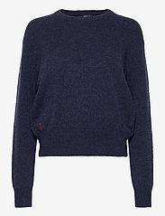 Polo Ralph Lauren - Wool-Blend Crewneck Sweater - jumpers - boathouse navy he - 1