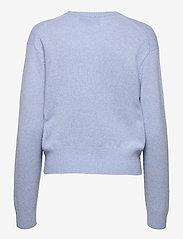 Polo Ralph Lauren - Wool-Blend Crewneck Sweater - jumpers - lt blue heather - 1