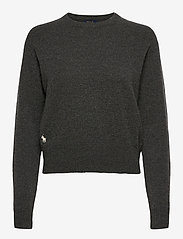 Polo Ralph Lauren - Wool-Blend Crewneck Sweater - jumpers - stadium grey heat - 0