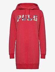 Polo Ralph Lauren - Fleece Hoodie Dress - midi dresses - starboard red - 1