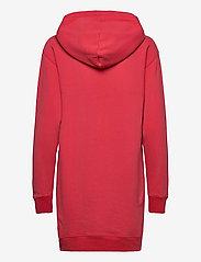 Polo Ralph Lauren - Fleece Hoodie Dress - midi dresses - starboard red - 2