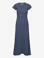 Polo Ralph Lauren - Cap-Sleeve Henley Dress - everyday dresses - river blue heathe - 1