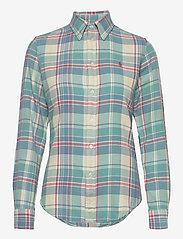 Polo Ralph Lauren - Plaid Cotton Twill Shirt - long-sleeved shirts - 770 faded teal/cr - 1