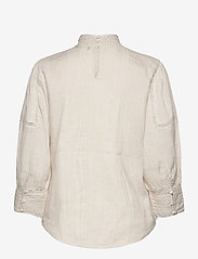 Polo Ralph Lauren - Lace-Trim Linen Blouse - long sleeved blouses - antique cream - 2