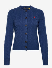 Buttoned Wool-Blend Cardigan - AGED ROYAL HEATHE