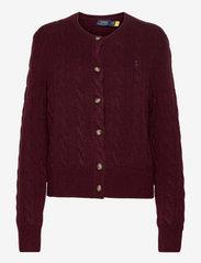 Buttoned Wool-Blend Cardigan - AGED WINE MELANGE