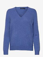 Polo Ralph Lauren - Wool-Blend V-Neck Sweater - jumpers - deep blue heather - 0