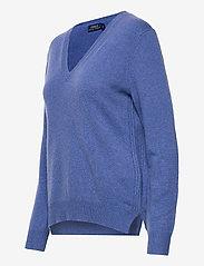Polo Ralph Lauren - Wool-Blend V-Neck Sweater - jumpers - deep blue heather - 2