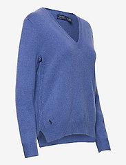 Polo Ralph Lauren - Wool-Blend V-Neck Sweater - jumpers - deep blue heather - 3