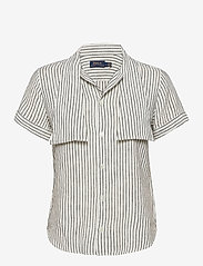 Polo Ralph Lauren - Y/D LINEN STRIPE-SSL-SHT - kortærmede skjorter - 542g nevis/polo b - 0