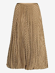 Polo Ralph Lauren - Houndstooth Pleated Skirt - midi skirts - brown/tan houndst - 2