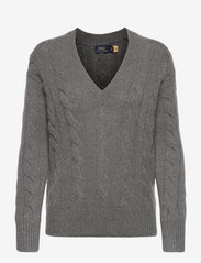 Polo Ralph Lauren - Cable-Knit Wool-Cashmere Sweater - jumpers - antique heather - 0