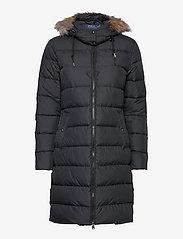 Polo Ralph Lauren - Faux Fur-Trim Down Coat - winter coats - polo black - 2