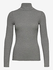 Polo Ralph Lauren - 36/1'S TENCEL RIB-LSL-KNT - turtlenecks - boulder grey heat - 1