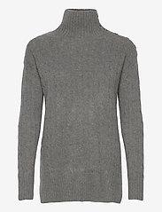 Polo Ralph Lauren - Buttoned-Placket Turtleneck - turtlenecks - antique heather - 1
