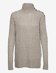 Polo Ralph Lauren - Buttoned-Placket Turtleneck - turtlenecks - light vintage hea - 0