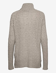 Polo Ralph Lauren - Buttoned-Placket Turtleneck - turtlenecks - light vintage hea - 1