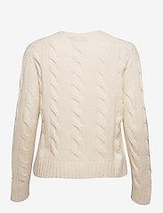Polo Ralph Lauren - WOOL/CASHMERE BLEND-LSL-SWT - jumpers - cream - 2