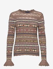 Polo Ralph Lauren - Fair Isle Crewneck Sweater - jumpers - tan multi - 1