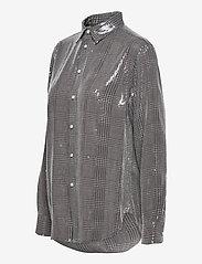 Polo Ralph Lauren - SQ PRNTD POLY GGT-LSL-SHT - long-sleeved shirts - grey/black glen p - 2