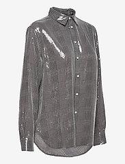Polo Ralph Lauren - SQ PRNTD POLY GGT-LSL-SHT - long-sleeved shirts - grey/black glen p - 3