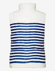 Polo Ralph Lauren - Belmont Striped Down-Filled Vest - puffer vests - white/blue stripe - 2