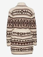Polo Ralph Lauren - Fringe-Trim Shawl Cardigan - cardigans - oatmeal multi - 2