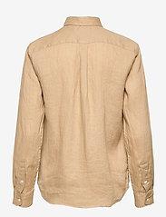 Polo Ralph Lauren - Relaxed Fit Linen Shirt - langærmede skjorter - polo tan - 1
