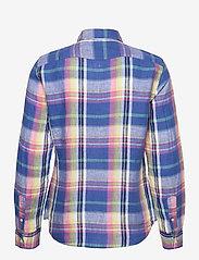 Polo Ralph Lauren - Classic Fit Plaid Linen Shirt - langærmede skjorter - 943 blue/pink - 2