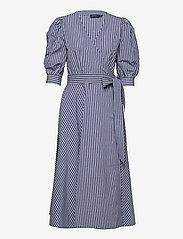Polo Ralph Lauren - Cotton Gingham Wrap Dress - sommerkjoler - 886 blue/white pl - 1