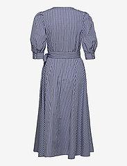 Polo Ralph Lauren - Cotton Gingham Wrap Dress - sommerkjoler - 886 blue/white pl - 2