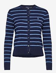 Polo Ralph Lauren - PIMA JSY STRETCH-LSL-SWT - cardigans - blue multi - 1