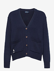 Polo Ralph Lauren - COTTON JERSEY-LSL-SWT - cardigans - hunter navy - 1