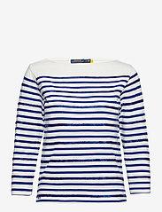 Polo Ralph Lauren - Beaded Boatneck Shirt - trøjer - deckwash white/he - 0