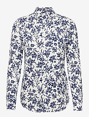 Polo Ralph Lauren - Floral Cotton Button-Down Shirt - langærmede skjorter - 883 navy/cream fl - 1