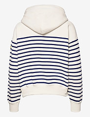 Polo Ralph Lauren - Striped Fleece Hoodie - hættetrøjer - deckwash white - 1