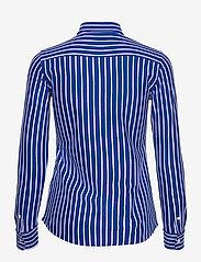 Polo Ralph Lauren - Striped Cotton Button-Down Shirt - langærmede skjorter - active royal/whit - 2