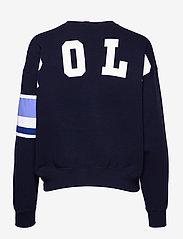 Polo Ralph Lauren - Striped-Trim Fleece Sweatshirt - sweatshirts - cruise navy - 2