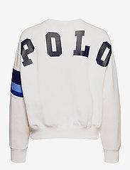 Polo Ralph Lauren - Striped-Trim Fleece Sweatshirt - sweatshirts - white - 2