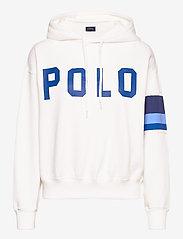 Polo Ralph Lauren - Striped-Trim Fleece Hoodie - hættetrøjer - white - 1