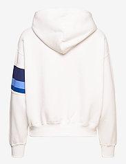 Polo Ralph Lauren - Striped-Trim Fleece Hoodie - hættetrøjer - white - 2